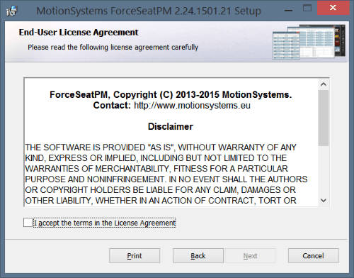 Fspm Install License Terms